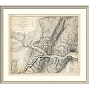'Civil War Map of the Country Adjacent to Harper'S Ferry, Virginia, 1863' Framed Print