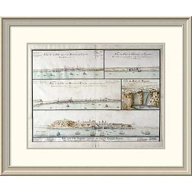 East Urban Home 'View of the City of Three Rivers' Framed Print; 25'' H x 30'' W x 1.5'' D