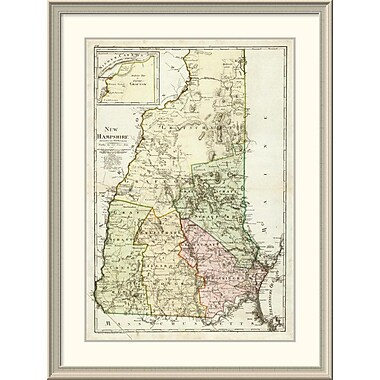 East Urban Home 'New Hampshire, 1796' Framed Print; 44'' H x 33'' W x 1.5'' D