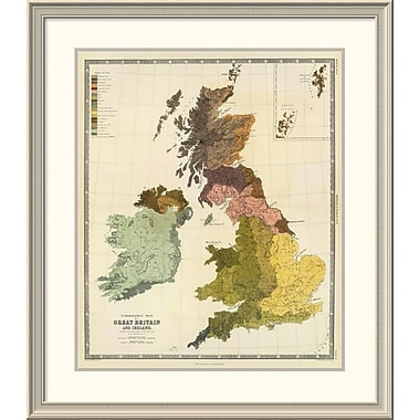 East Urban Home 'Ethnographic, Great Britain, Ireland, 1856' Framed Print; 38'' H x 33'' W x 1.5'' D