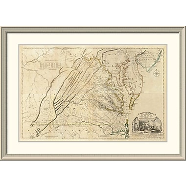 East Urban Home 'Composite: Virginia, 1776' Framed Print; 31'' H x 44'' W x 1.5'' D