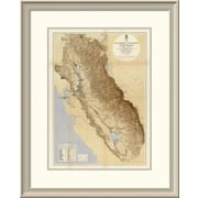 East Urban Home 'Map of the San Joaquin, Sacramento and Tulare Valleys, 1873' Framed Print