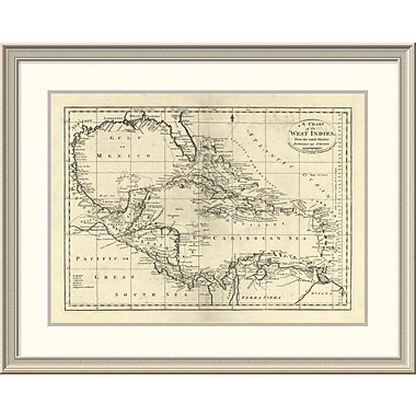 East Urban Home 'Chart of the West Indies, 1795' Framed Print; 30'' H x 38'' W x 1.5'' D