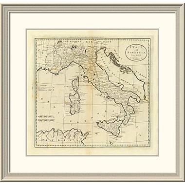 East Urban Home 'Italy and Sardinia, 1796' Framed Print; 29'' H x 30'' W x 1.5'' D