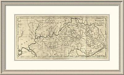East Urban Home 'Kentucky, 1795' Framed Print; 23'' H x 38'' W x 1.5'' D