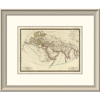 East Urban Home 'Monde Connu Des Anciens, 1821' Framed Print; 20'' H x 24'' W x 1.5'' D