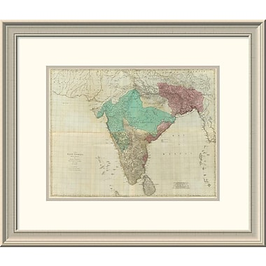 East Urban Home 'Composite: East Indies w/ Roads, 1768' Framed Print; 20'' H x 24'' W x 1.5'' D