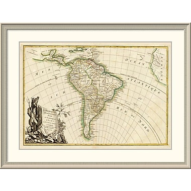 East Urban Home 'L'Amerique Meridionale, 1782' Framed Print; 33'' H x 44'' W x 1.5'' D