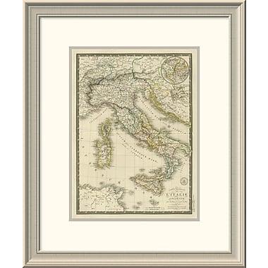 East Urban Home 'Italie Ancienne, 1828' Framed Print; 24'' H x 20'' W x 1.5'' D