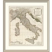 East Urban Home 'A New Map of Italy w/ the Islands of Sicily, Sardinia & Corsica, 1790' Framed Print