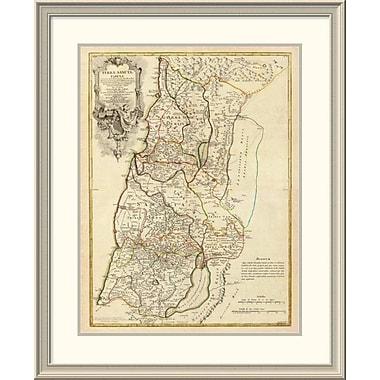 East Urban Home 'Composite: Terrae Sanctae, 1782' Framed Print; 38'' H x 31'' W x 1.5'' D