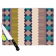 East Urban Home Akwaflorell Glass 'Knitted 3 Pattern' Cutting Board; 0.25'' H x 11.5'' W x 8.25'' D
