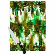East Urban Home Ebi Emporium Glass 'Noise 4' Cutting Board; 0.25'' H x 11.5'' W x 8.25'' D