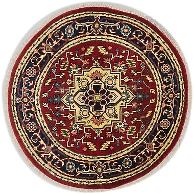 Bloomsbury Market Briggs Traditional Hand-Knotted Round Dark Copper Area Rug