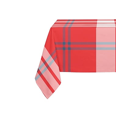August Grove Bellwood Navy Red Table Cloth