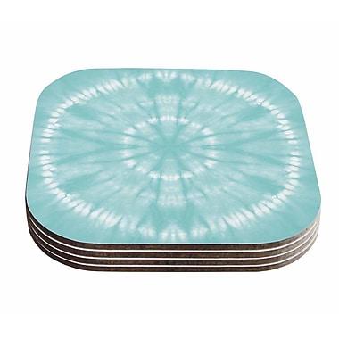 East Urban Home Jacqueline Milton 'Shibori Circles' Pastel Mixed Media Coaster (Set of 4)
