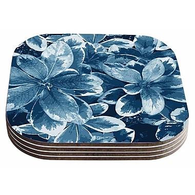 East Urban Home Julia Grifol 'Leaves Floral' Coaster (Set of 4)
