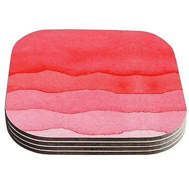 East Urban Home Ombre Cherries' Abstract Coaster (Set of 4)