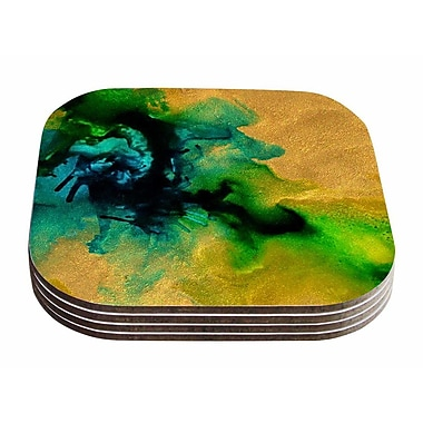 East Urban Home Claire Day 'Glamorous' Abstract Painting Coaster (Set of 4)
