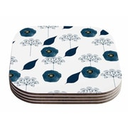 East Urban Home Li Zamperini 'Collection - Lili' Floral Watercolor Coaster (Set of 4)