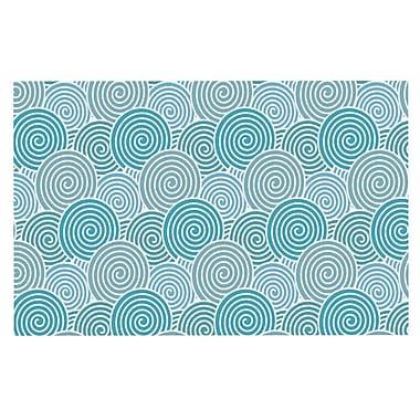 East Urban Home Nick Atkinson 'Ocean Swirl' Doormat