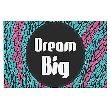 East Urban Home Pom Graphic Design 'Dream Big' Doormat