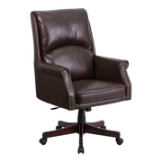 Red Barrel Studio Ohlman High-Back Leather Executive Chair; Brown