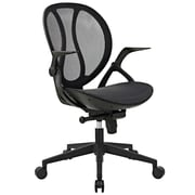 Latitude Run Conduct Vinyl 21.5'' Mesh Desk Chair; Black