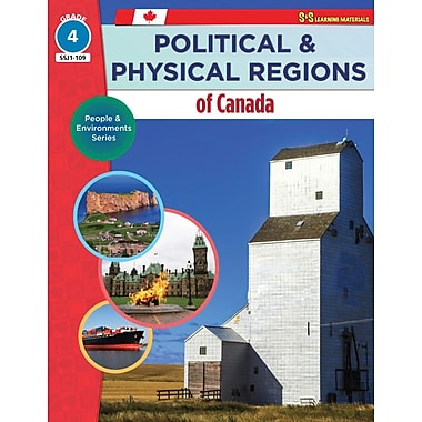 On The Mark Press Political & Physical Regions of Canada, Grade 4 People & Environments Series