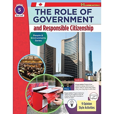 On The Mark Press The Role of Government & Responsible Citizenship, Grade 5 People & Environments Series