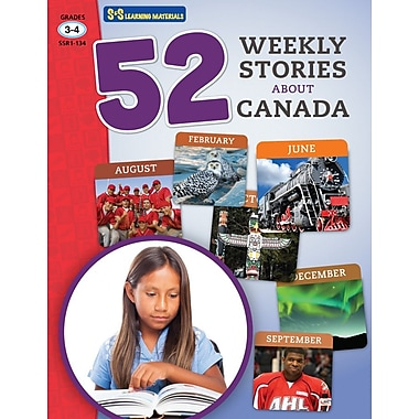 On The Mark Press 52 Weekly Stories About Canada, Grade 3-4
