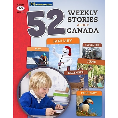 On The Mark Press 52 Weekly Stories About Canada, Grade 4-5