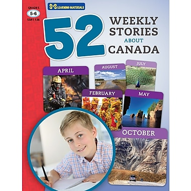 On The Mark Press 52 Weekly Stories About Canada, Grade 5-6