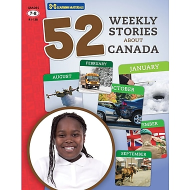 On The Mark Press 52 Weekly Stories About Canada, Grade 7-8