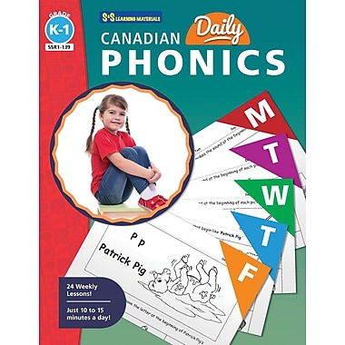 On The Mark Press Canadian Daily Phonics Activities, Grade K-1