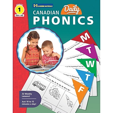 On The Mark Press Canadian Daily Phonics Activities, Grade 1