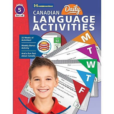On The Mark Press Canadian Daily Language Activities, Grade 5