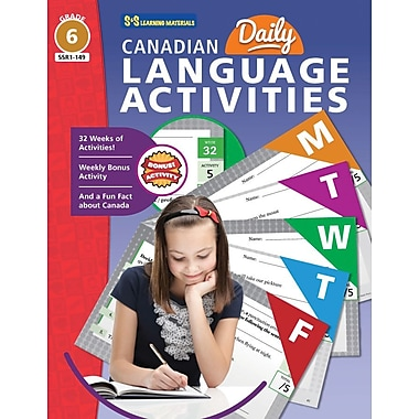 On The Mark Press Canadian Daily Language Activities, Grade 6