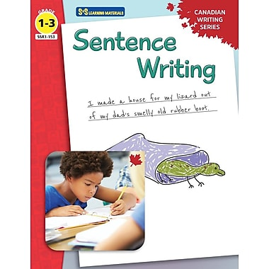 On The Mark Press Canadian Sentence Writing, Grade 1-3
