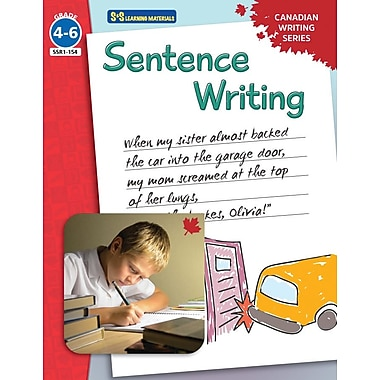 On The Mark Press Canadian Sentence Writing, Grade 4-6
