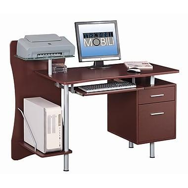 Techni Mobili Stylish Computer Desk with Storage, Chocolate (RTA-325-CH36)