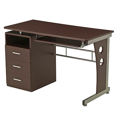 Techni Mobili Computer Desk With Ample Storage, Chocolate (RTA-3520-CH36)