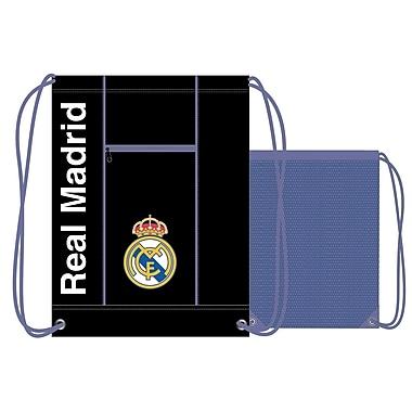 Real Madrid – Sac de sport à cordons, 17 po, noir