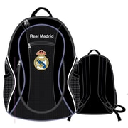 "Real Madrid Ball Backpack, 20"", Black"