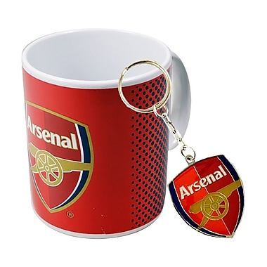 Arsenal Mug and Keychain Set, 2-Piece Set, Red