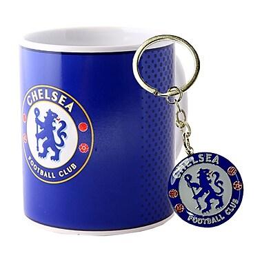 Chelsea F.C. – Tasse et porte-clés, ensemble 2 pièces, rouge