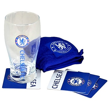 Chelsea Mini Bar Set with Pint Glass, Bar Towel and 4 Coasters