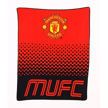 Couverture polaire du Manchester United, 1,5 x 1,25 m, rouge