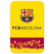Plaque de rue de Barcelone, 11 x 17 po, jaune