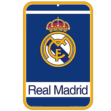 Real Madrid Street Sign, Plastic, 11 x 17